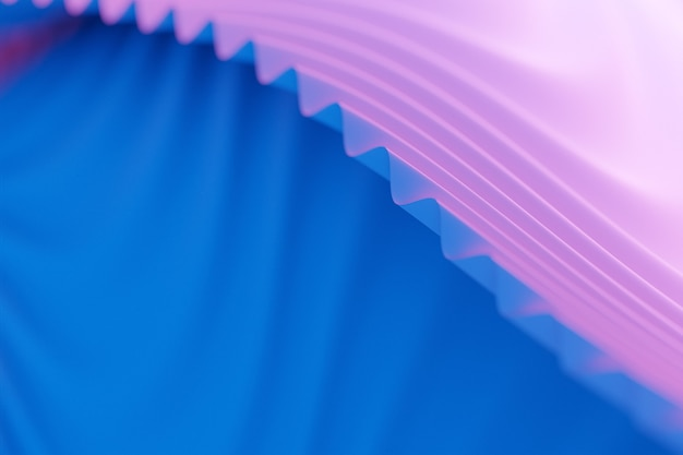 Illustration 3d d'une bande stéréo de différentes couleurs