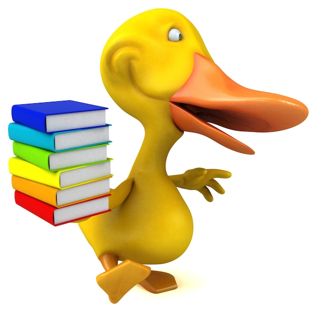 Illustration 3d de canard amusant