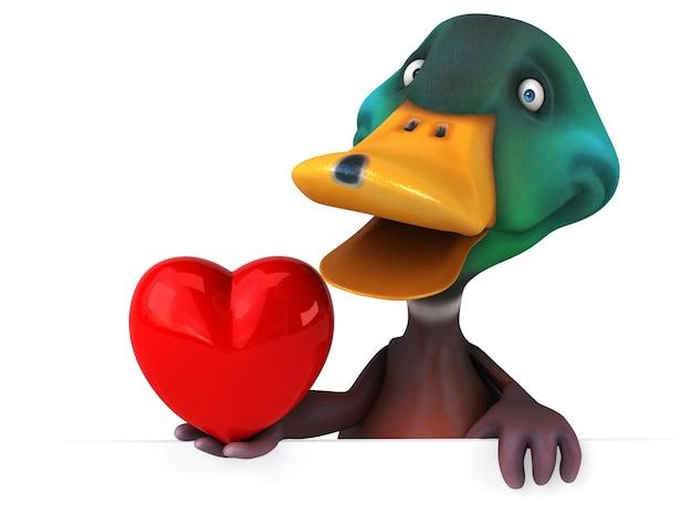 Illustration 3d de canard amusant