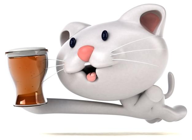 Illustration 3d de chat amusant