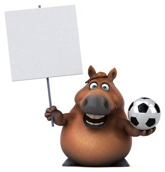Illustration 3d de cheval drôle