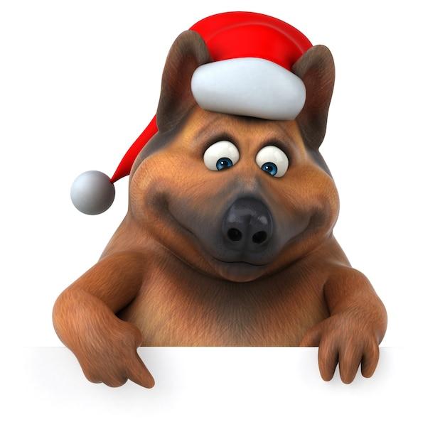 Illustration 3d de chien de berger allemand amusant
