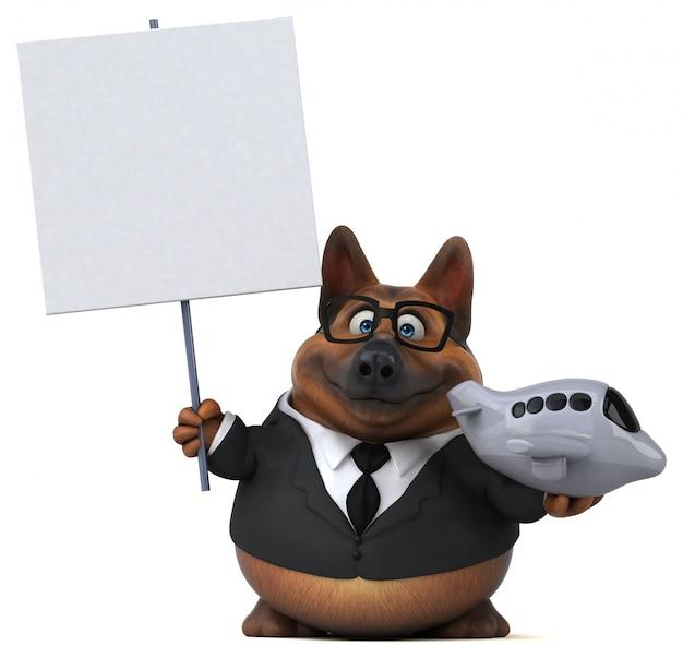 Illustration 3d de chien de berger allemand