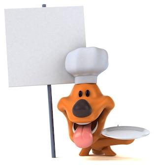 Illustration 3d de chien drôle