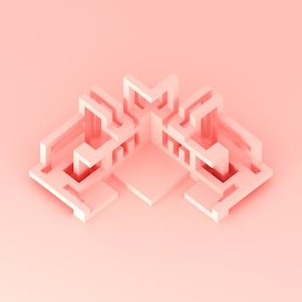 Illustration 3d de concept architectural abstrait