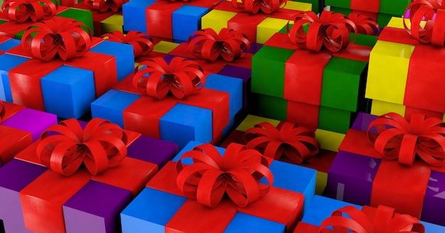 Illustration 3d - concept cadeau/présent.