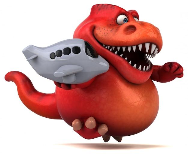 Illustration 3d de dinosaure amusant