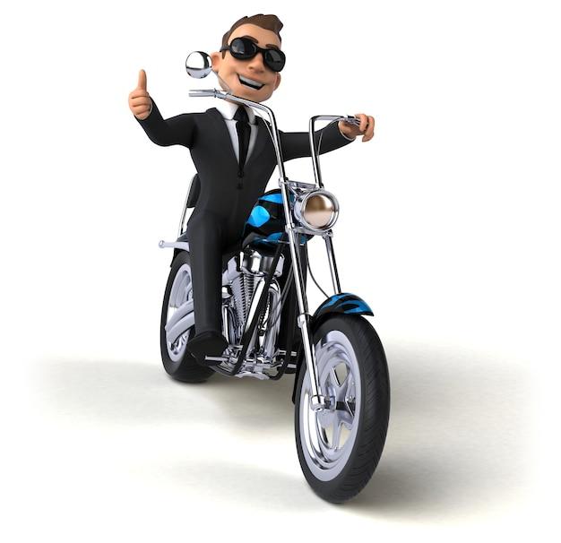 Illustration 3d drôle d'homme d'affaires