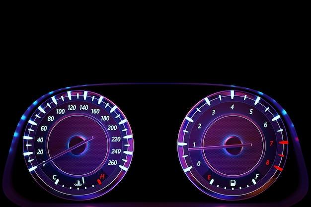 Illustration 3d du compteur de vitesse circle