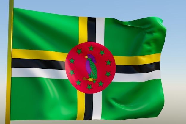 Illustration 3d du drapeau national de dominicana