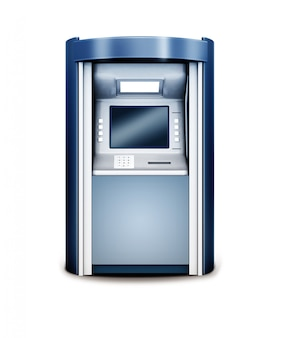 Illustration 3d du guichet automatique