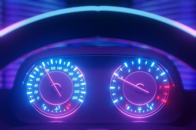 Illustration 3d du panneau de voiture