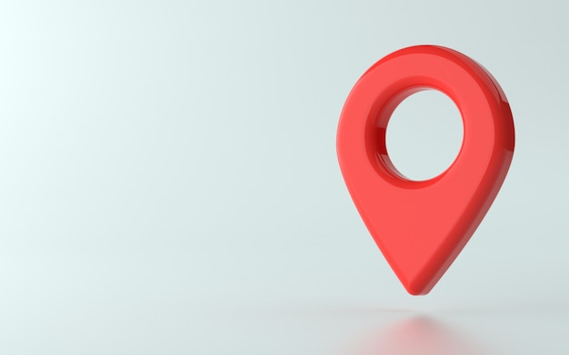 Illustration 3d du point d'épingle ou d'un marqueur d'emplacement