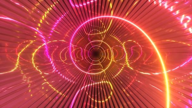 Illustration 3d d'éclairage moderne