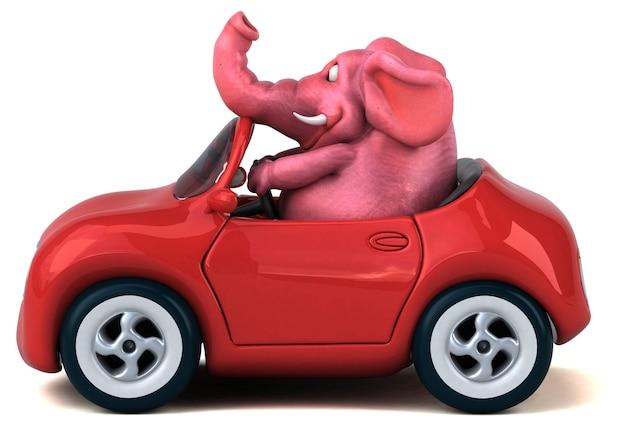 Illustration 3d d'éléphant amusant