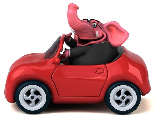 Illustration 3d d'éléphant drôle