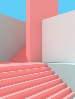 Illustration 3d de fond d'architecture abstraite.