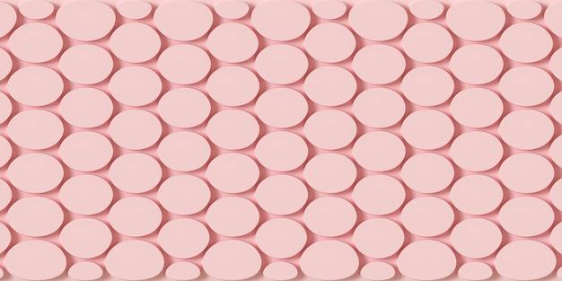 Illustration 3d de fond géométrique de couleur rose