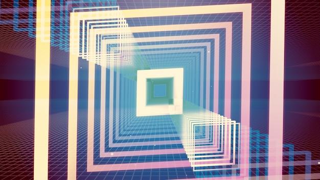 Illustration 3d fond pour la publicité et le papier peint dans la scène de gatsby et art déco.