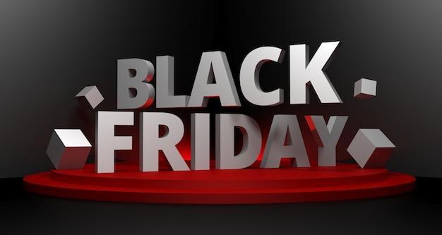 Illustration 3d de fond de vente vendredi noir.
