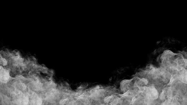 Illustration 3d de fumée cadre