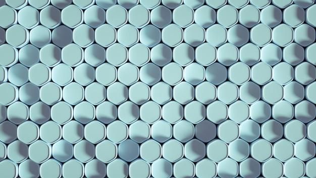 Illustration 3d de géométrie hexagone fond