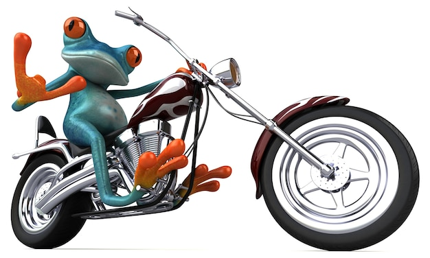 Illustration 3d de grenouille amusante