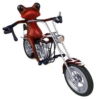 Illustration 3d de grenouille drôle