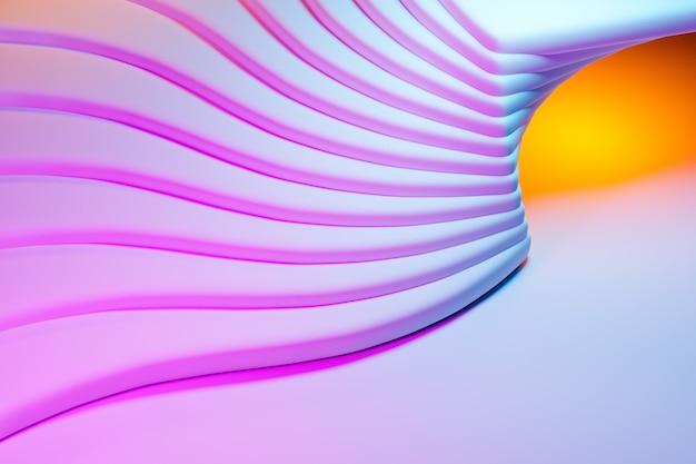 Illustration 3d de lignes portail coloré, grotte .modèle de forme. fond de géométrie de la technologie. bannière autocollante de couleur pour l'enregistrement des propositions