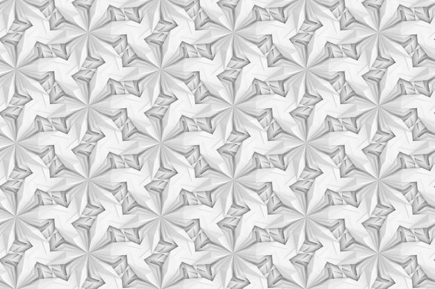 Illustration 3d de modèle sans couture volumétrique complexe