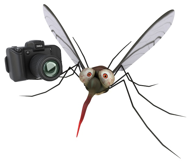 Illustration 3d de moustique