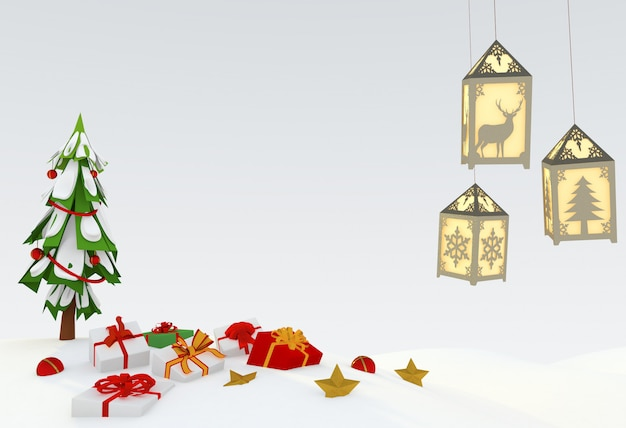 Illustration 3d de noël