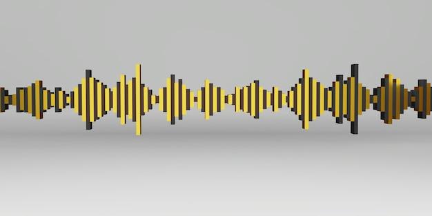 Illustration 3d de l'onde sonore onde cardiaque