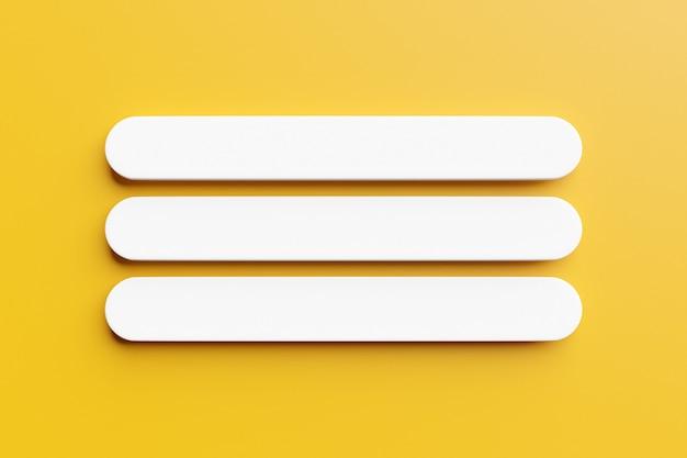 Illustration 3d d'une page de recherche internet sur fond jaune.