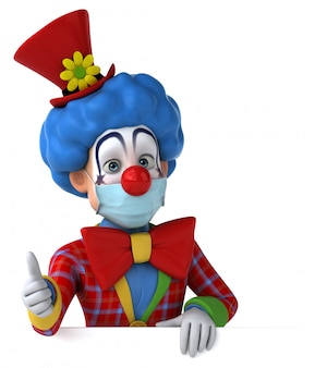 Illustration 3d d'un personnage de dessin animé avec un masque