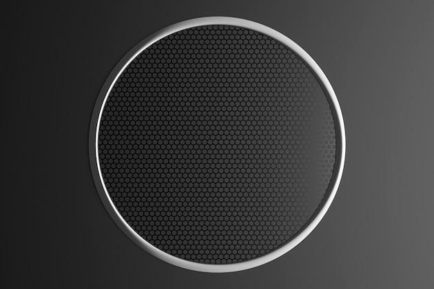 Illustration 3d D'un Portail Noir Avec Un Ornement Géométrique à L'intérieur Photo Premium