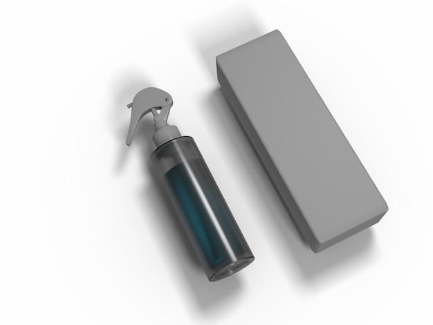 Illustration 3d. pulvérisateur pour diverses utilisations. maquette pour les modèles d'échantillons.