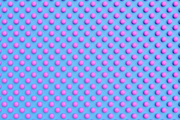 Illustration 3d de rangées de cercles roses