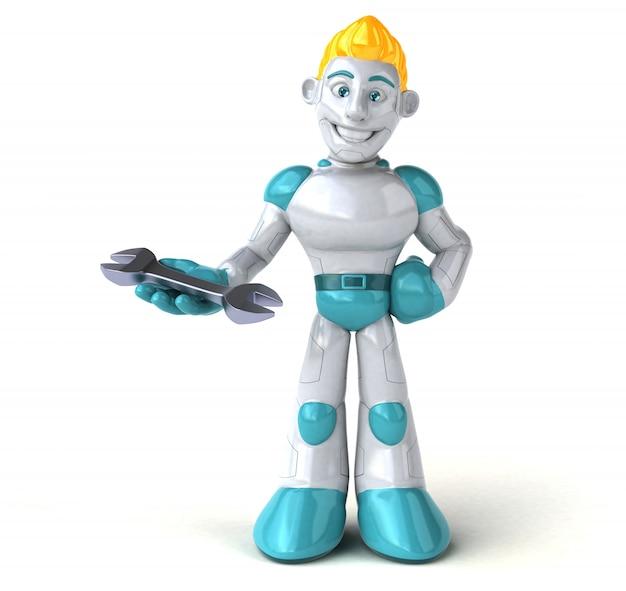 Illustration 3d de robot