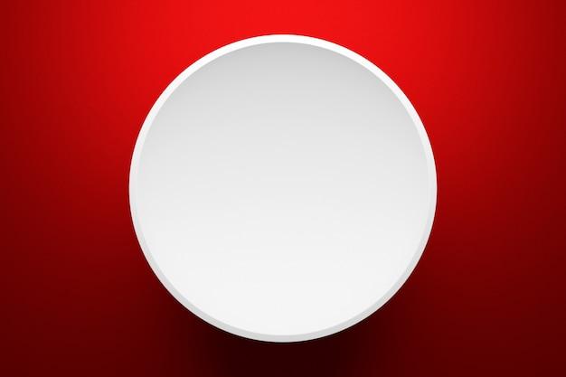 Illustration 3d d'une scène d'un cercle sur fond rouge
