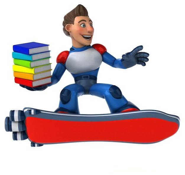 Illustration 3d de super-héros super moderne