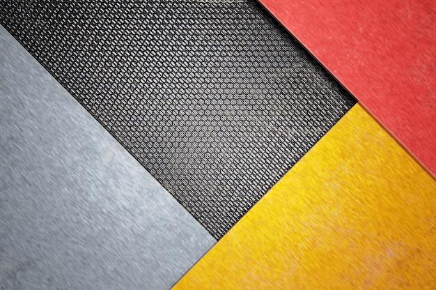Illustration 3d. surface de conception en métal de grille