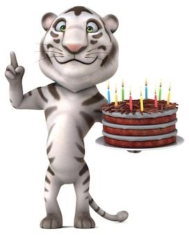 Illustration 3d de tigre amusant