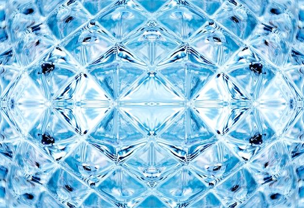 Illustration 3d de verre de cristal de texture