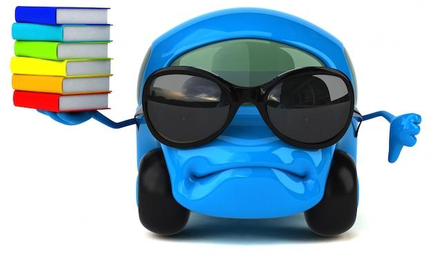Illustration 3d de voiture amusante