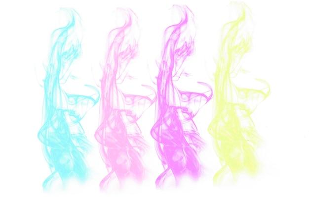 Illustration abstraite d'un fond de logo de fumée de couleur pastel