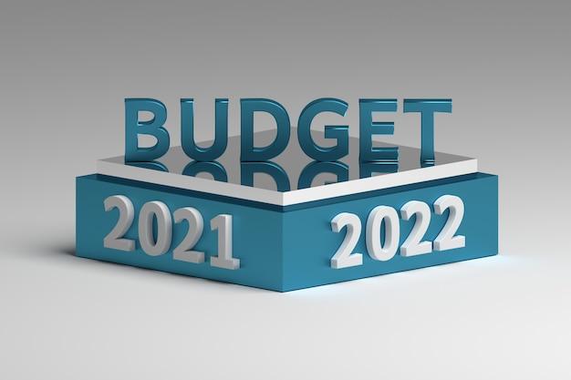 Illustration abstraite avec idée de concept de planification budgétaire pour les années 2021 et 2022 à venir