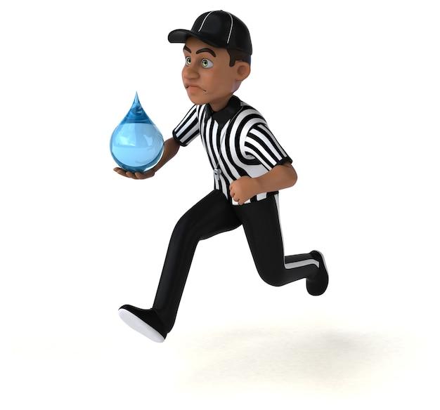 Illustration amusante d'un arbitre américain