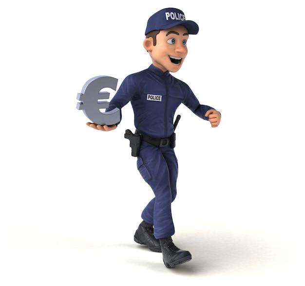 Illustration amusante d'un policier de dessin animé