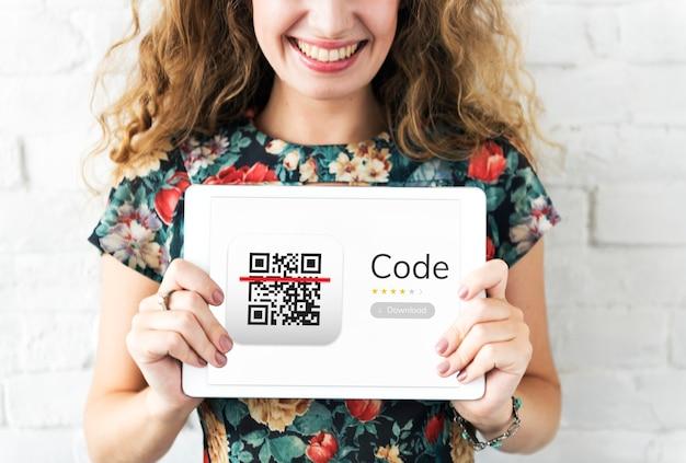 Illustration de l'application du code de réponse rapide qr